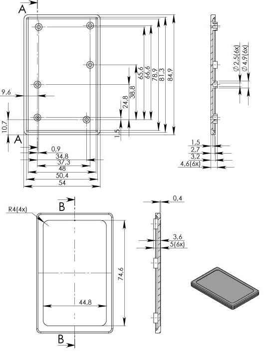 Пластиковый корпус KM45 (6x54x85)