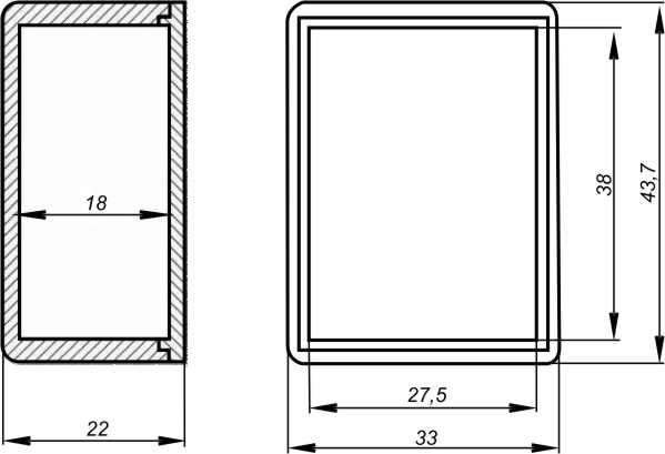 Пластиковый корпус KM7B (13x31x41)