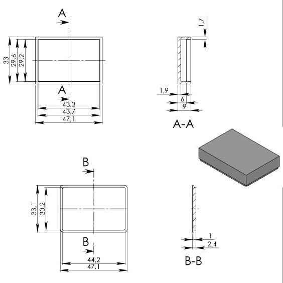 Пластиковый корпус KM97 (47x33x10)