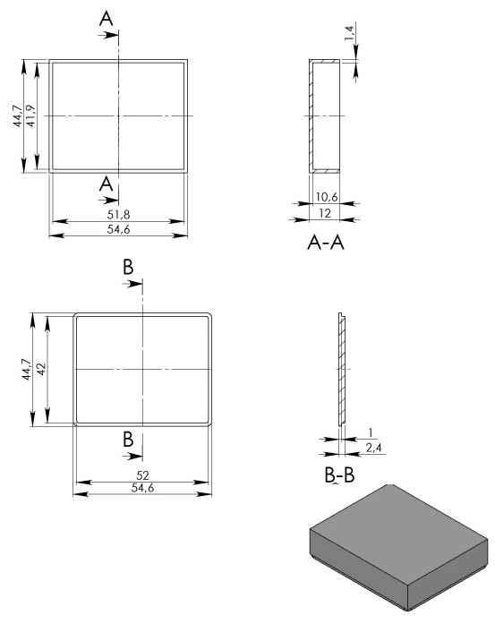 Пластиковый корпус KM98 (55x45x13)
