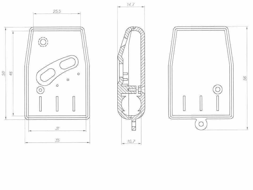 Пластиковый корпус KMP13 (56x35x14)