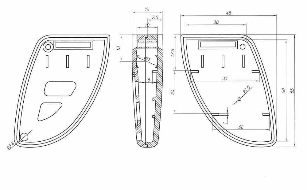 Пластиковый корпус KMP15 (63x37x14)