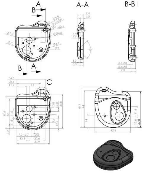 Пластиковый корпус KMP25 (50x43x13)