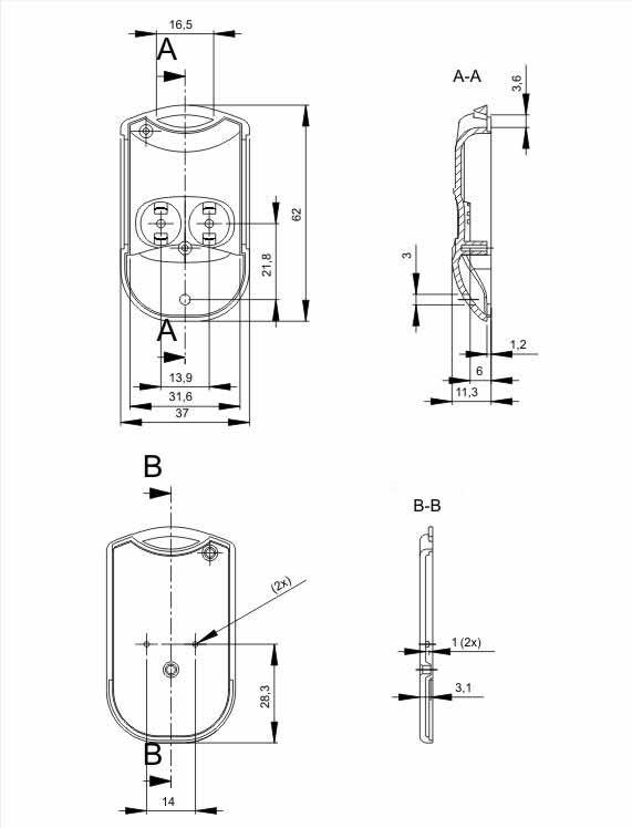 Пластиковый корпус KMP7 (62x37x14)
