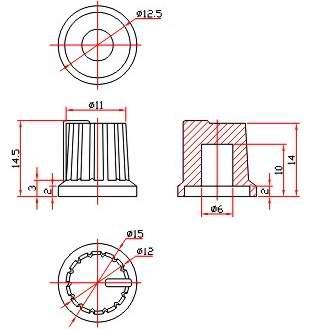 Ручки приборные KN 1007