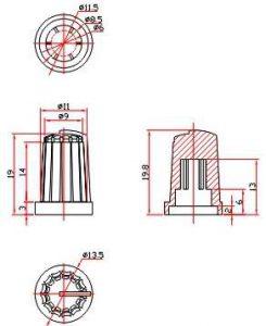 Ручки приборные KN 1047