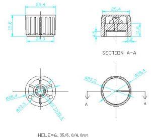 Ручки приборные KN 2003-2