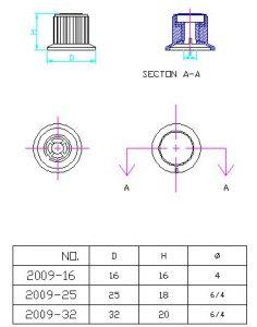 Ручки приборные KN 2009