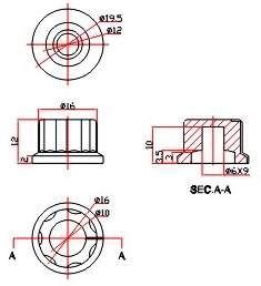 Ручки приборные KN 2014(17х14)
