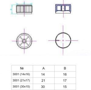 Ручки приборные KN 3001