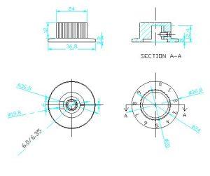 Ручки приборные KN 3019 A